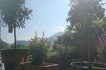"""View from garden on the """"Gaisberg"""""""