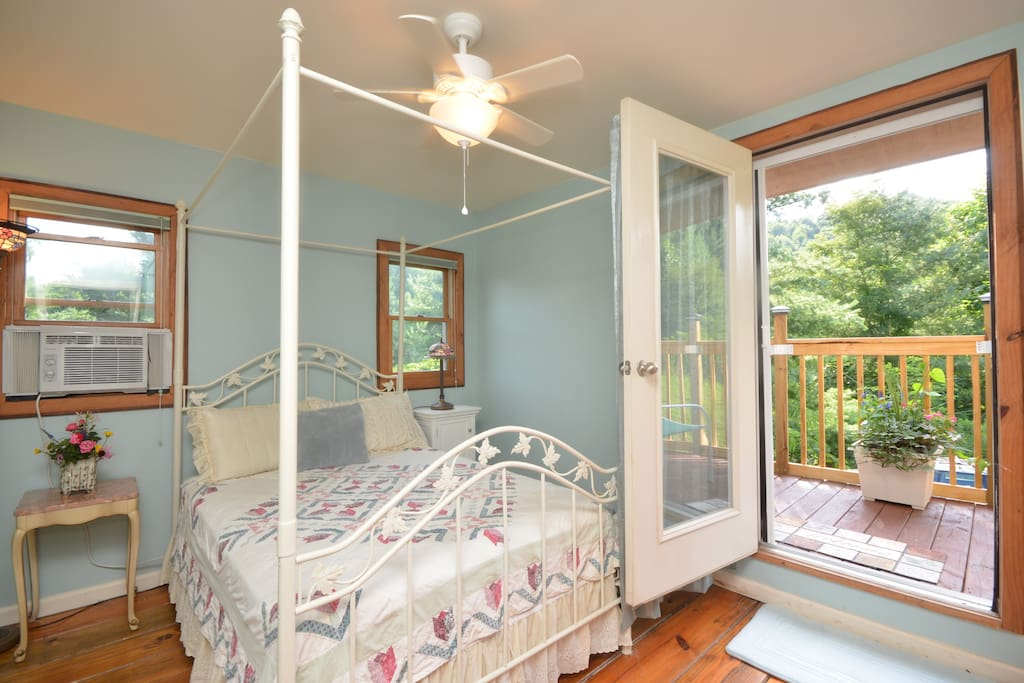 This is the guest bedroom with opening onto the Juliette balcony