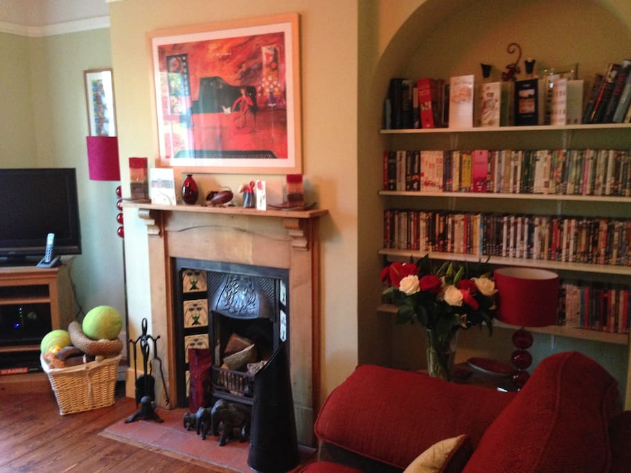 Warm and cosy living room packed with character