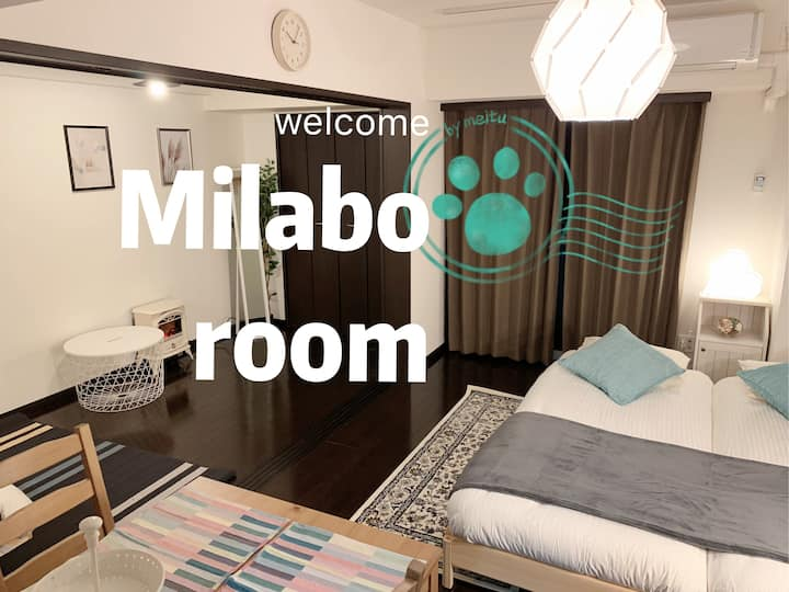 Max6person!JR 上野/浅草/秋葉原!3double bed/Room WiFI 601