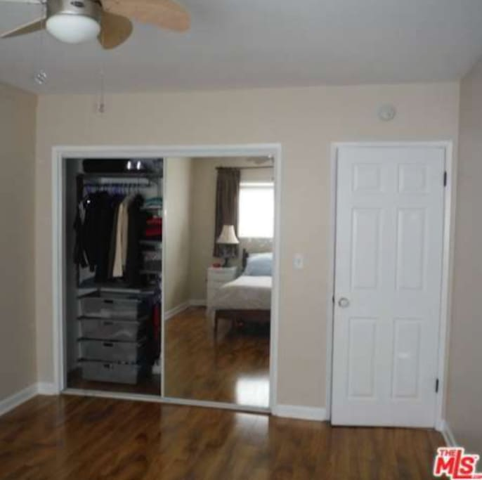 Lots of closet room and mirror in your bedroom