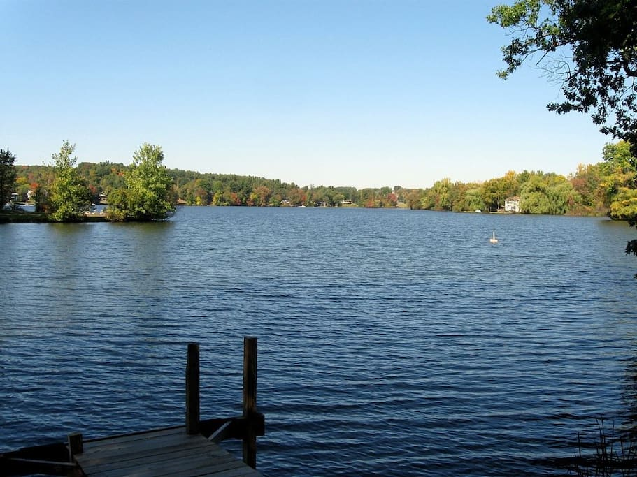 View of Kinderhook Lake from the deck.