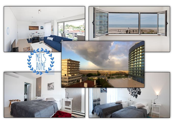 Apartment T3 sea view and free parking