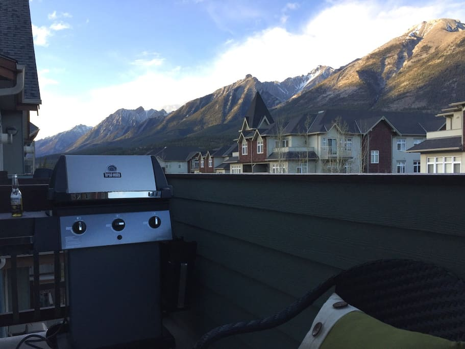 Grilling with a mountain view!