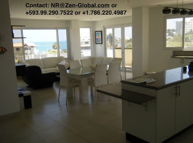 Beach condo with oceanviews/ Depto vista al mar - Salinas - Apartment