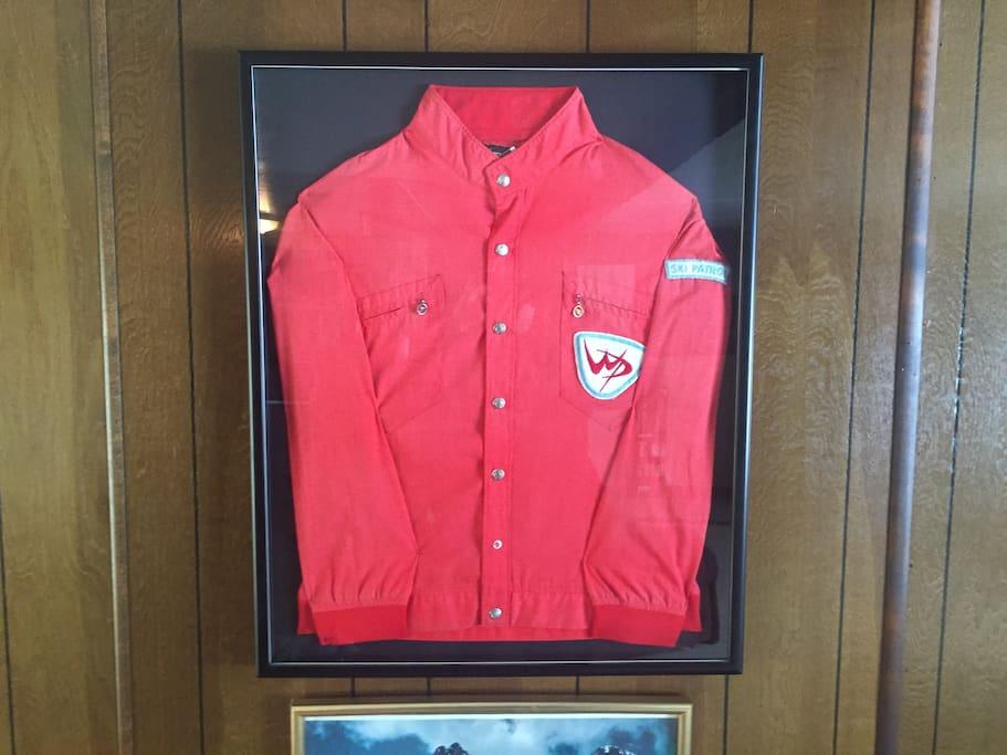 Grandpa Martin's ski patrol jacket from the 70's