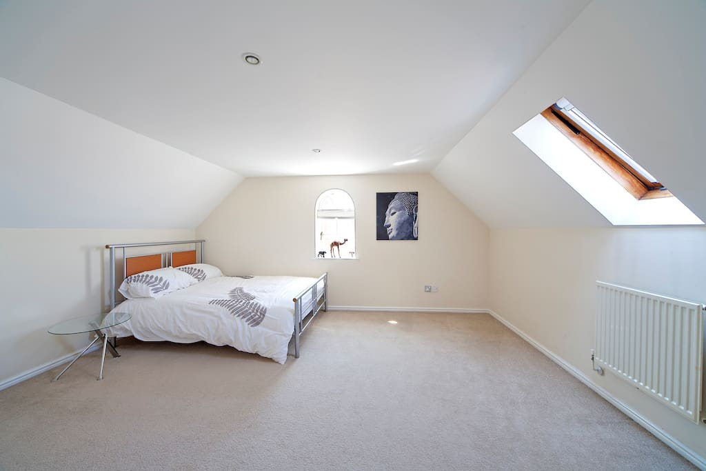 This is one of the double bedrooms available