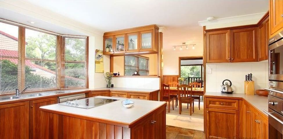 visitors are welcome to use kitchen or arrange to share our meals