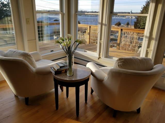 living room corner view.