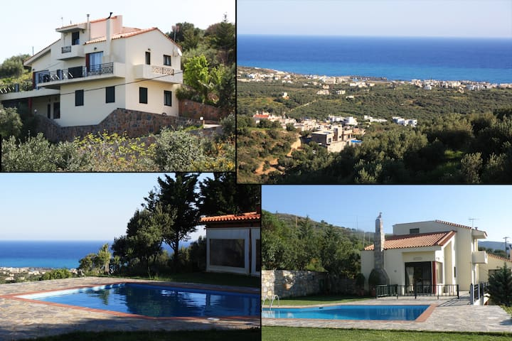 CRETE-SEASIDE MILATOS-VILLA -UP 15 - Lasithi