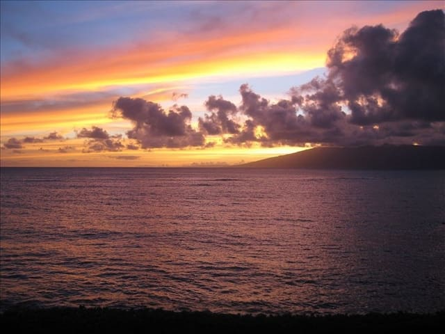 I took this picture from the Lanai.  Beautiful sunsets daily
