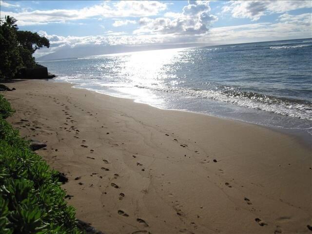 A semi private beach