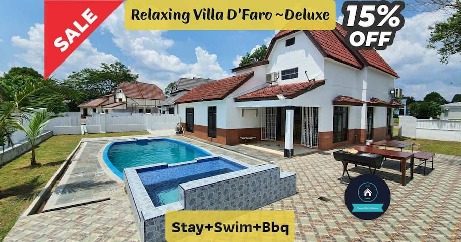 "15%~Relaxing Villa ""D'Faro~ Deluxe""~ Stay+Swim+Bbq"