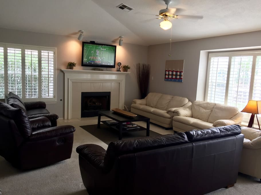 Plenty of couch space to watch your favorite TV shows or games.