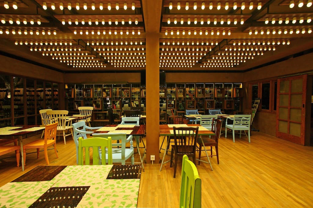 Restaurant, with LED lamp