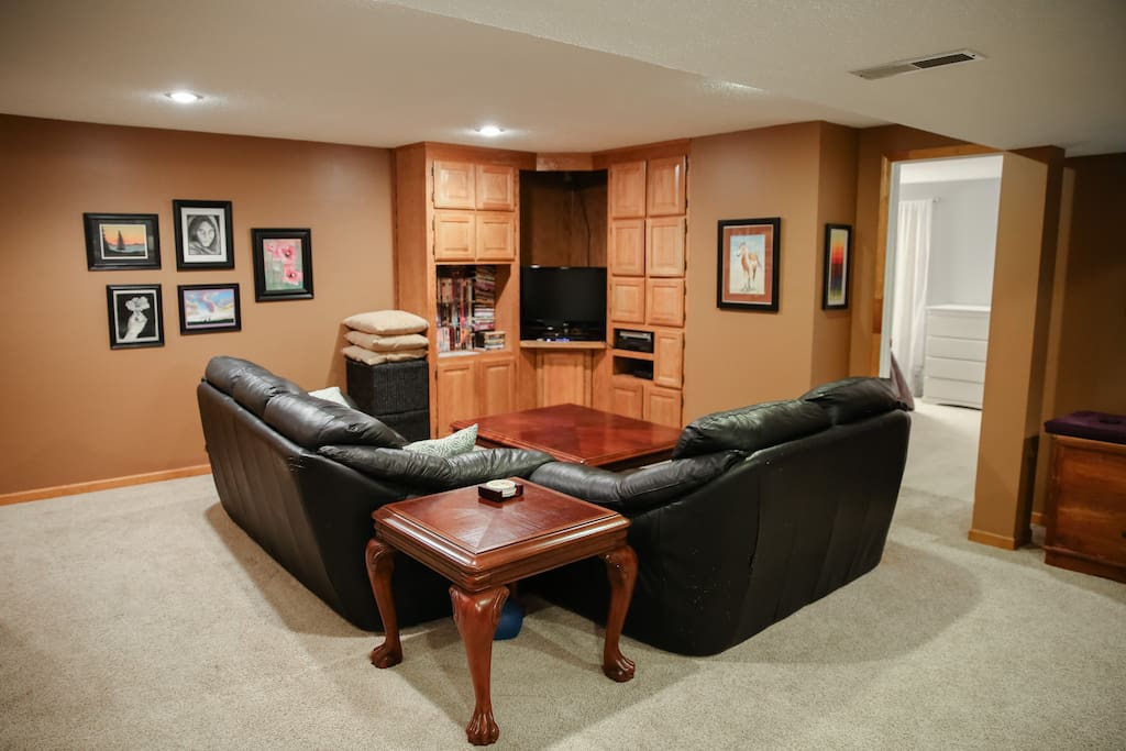 Seating for watching a movie or spending some quality family time