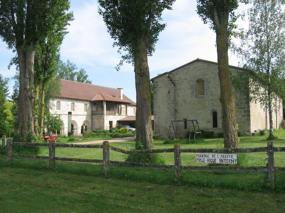 vue d'ensemble de l'abbaye