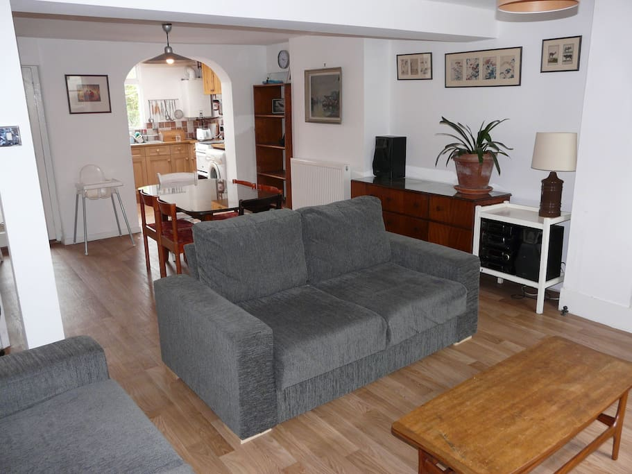 Dining / Living room, located downstairs.