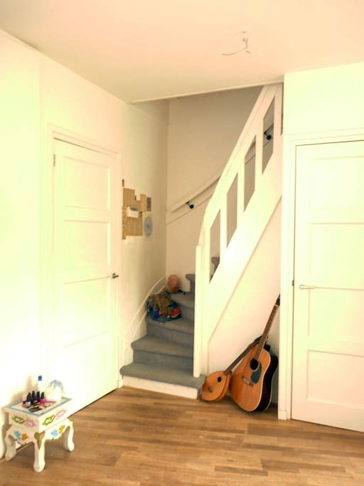 Stairway to first floor