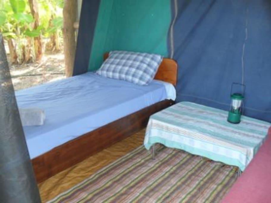 Comfortable safari tent