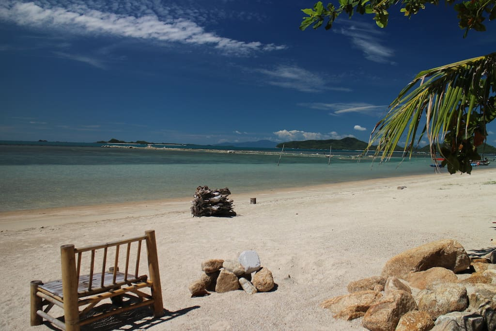 Stunning secluded white beach right on your doorstep!
