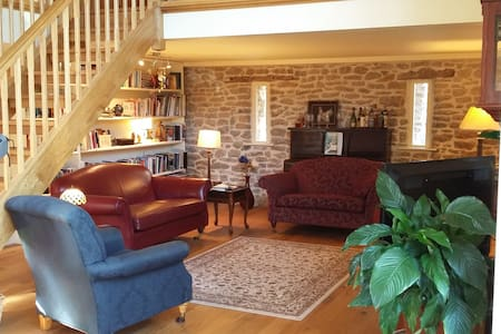 Modern converted stone barn - Gloucestershire