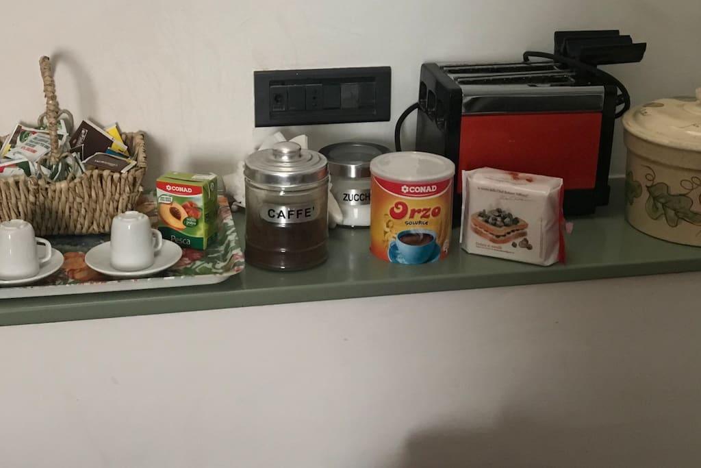 Piccola colazione per gli ospiti
