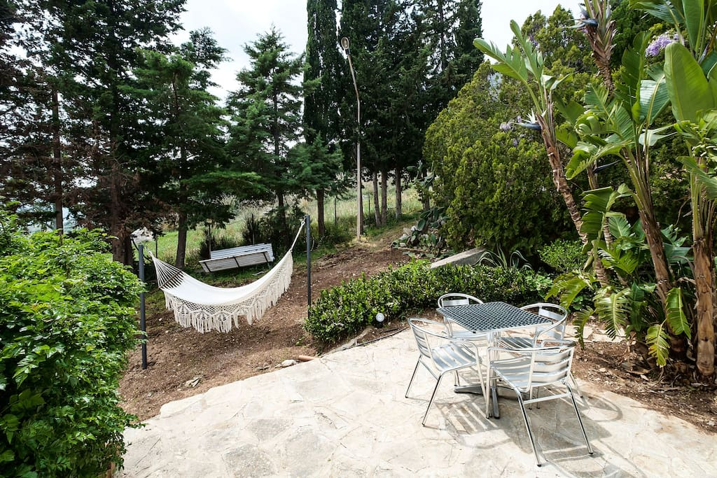 6000 sq meters Garden with lovely relaxing spots!