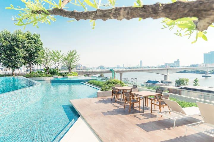 5-Star Paradise Riverside Condo - Bangkok - Condominium