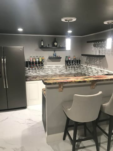 Studio + Your Own Home Bar with Kegerator