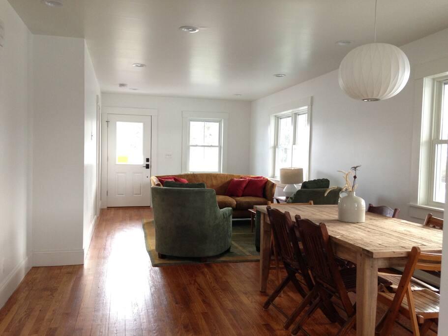 Open dining room living room