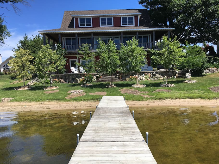 View of house from the dock.