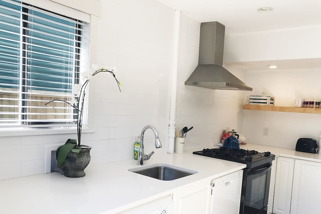 Private laundry, gas range and dishwasher are some of the featured amenities.