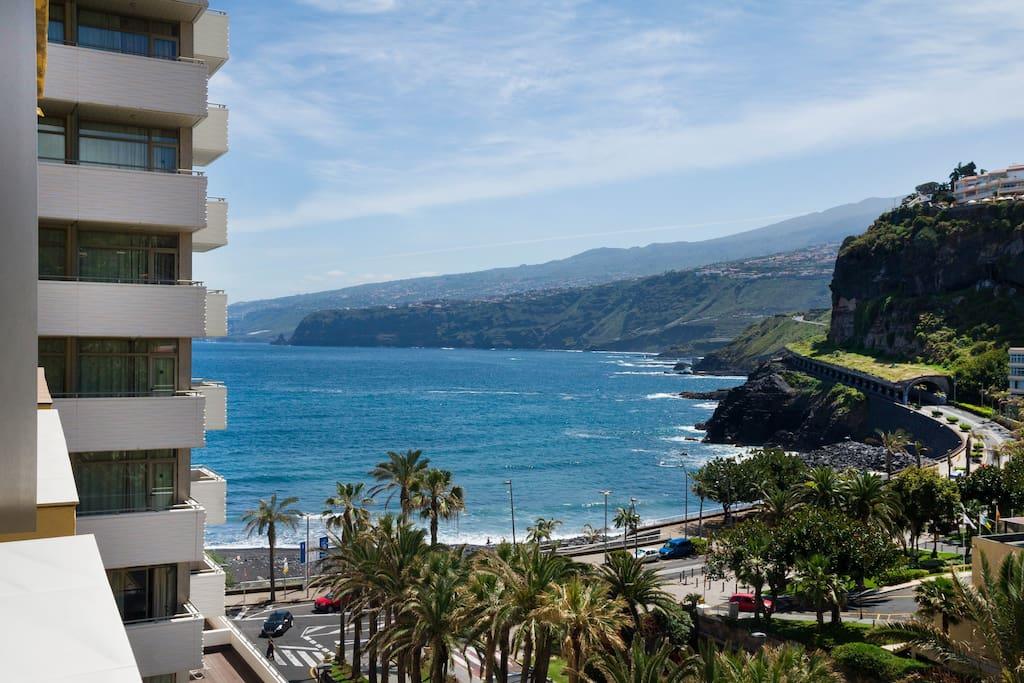 Estudio con vistas al mar apartamentos en alquiler en for Estudio puerto de la cruz