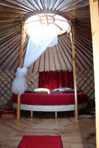 comfortables yurts near Auxerre