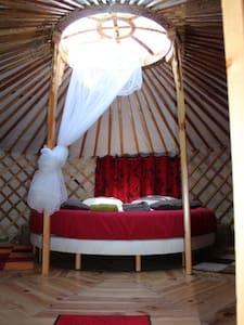 comfortables yurts near Auxerre - Fleury-la-Vallée - Yourte
