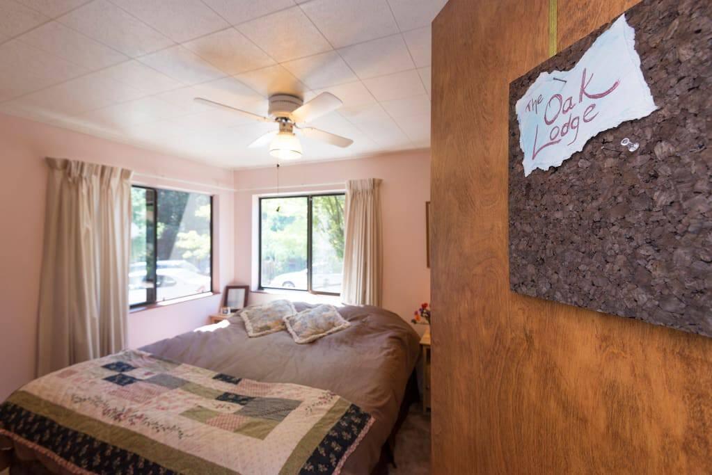 Nice room, warm colors
