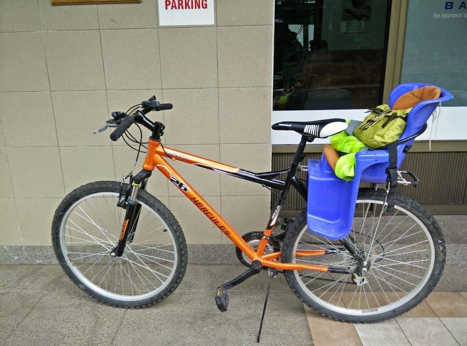 5 vélos : 2 grands, et 3 moyens