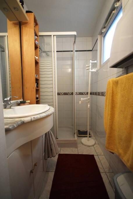 SDB appartement à coté de la chambre