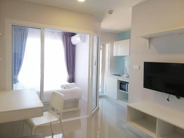 The Room #Huahin : New room/1BR/Pool&Gym/Free Wifi