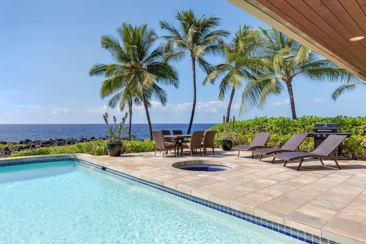 Villa Kai at Kona Bay Estastes, Ocean Front Home, AC in now in all bedrooms