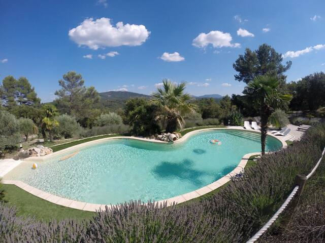 Charm and heated pool in Provence - Bras - House