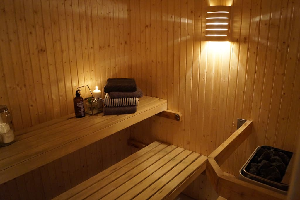 Relax in the Sauna after a day in town