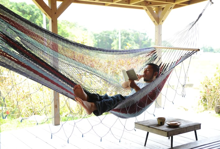 Nice to spend a whole day reading book in hammock