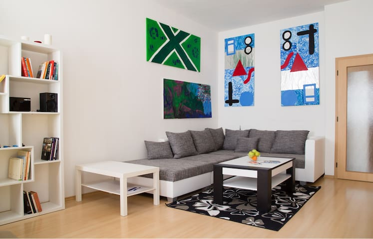 Custom made modern artwork make the apt special