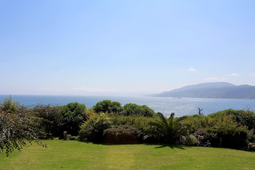 vista desde la terraza privada