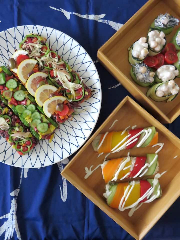 Various Veggie Sushi