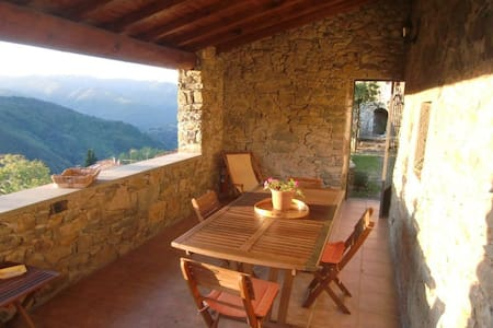 Charming house with view and garden - Bagni di Lucca - Dům