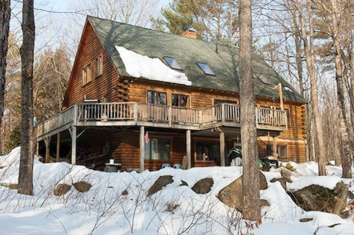 Quiet room in log cabin home. - Moultonborough - Cabin