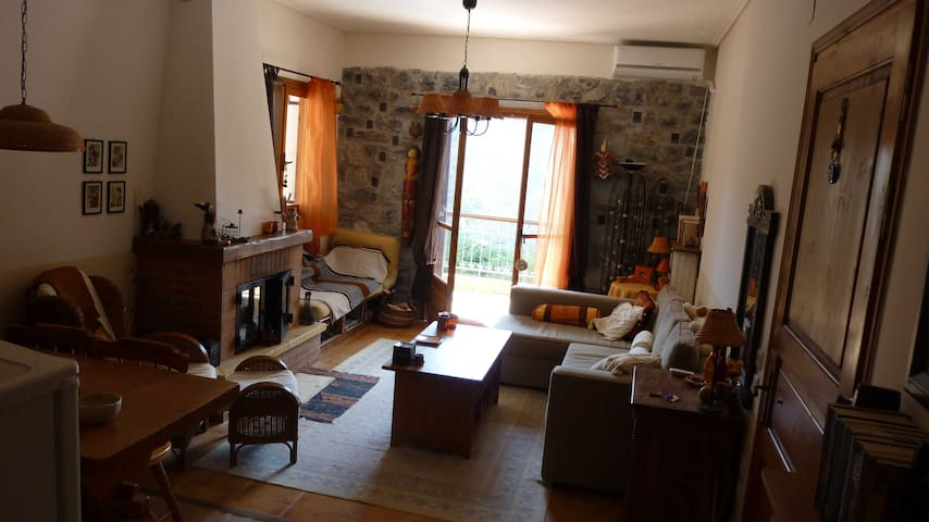 Cozy Detached Stone Villa - Vytina - Casa